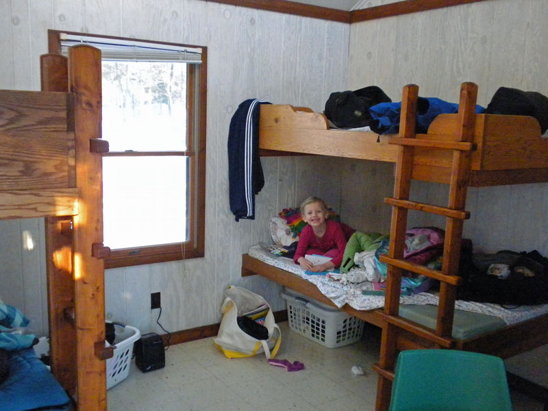 Inside Of The Pines Mini Camper Cabin At Ludington State Park