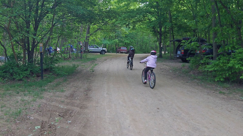 warren dunes rustic campground