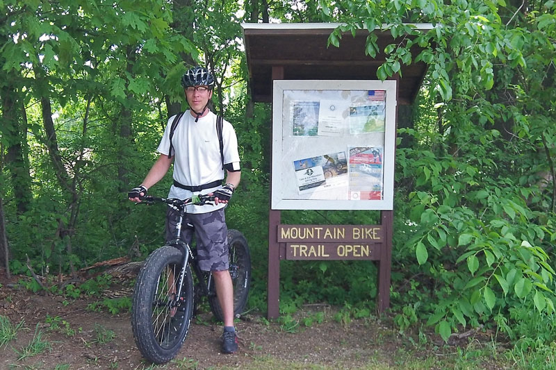 TK Lawless mountain bike trailhead
