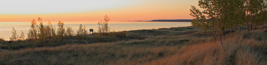 header image sunset at mears state park