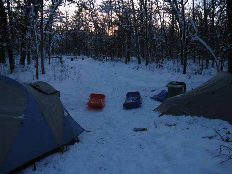 sunset-winter-camp-white-river-trail