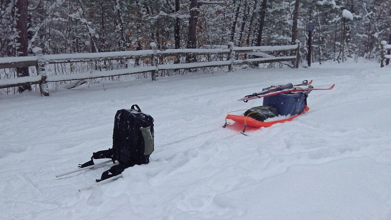 winter-camping-sled