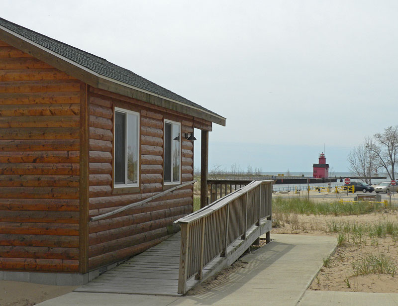 The View From The Camper Cabins At Holland State Park.