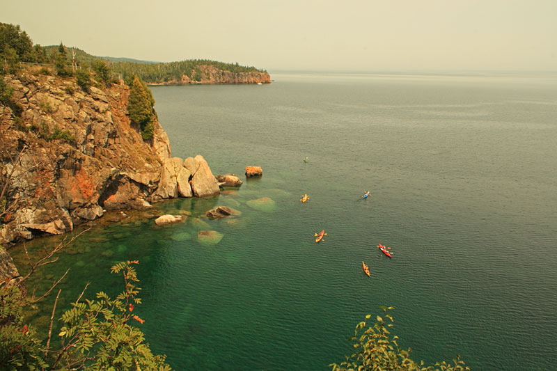 While Walking Back To The Van We Spotted This Group Of Kayaks To The North  Of Split Rock Lighthouse.